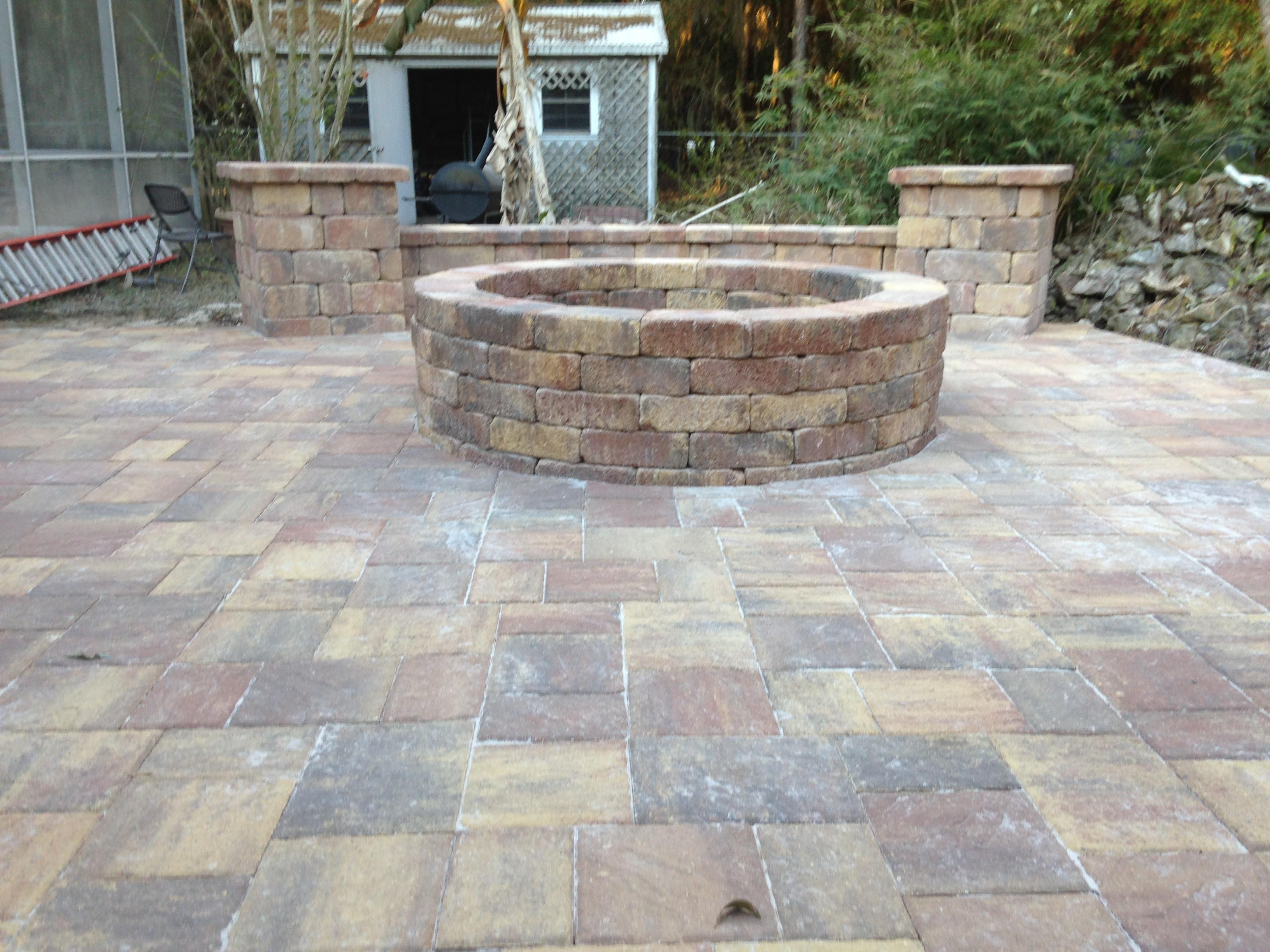 Fire Pits | Bay Brick Pavers on Pavers Patio With Fire Pit id=15873